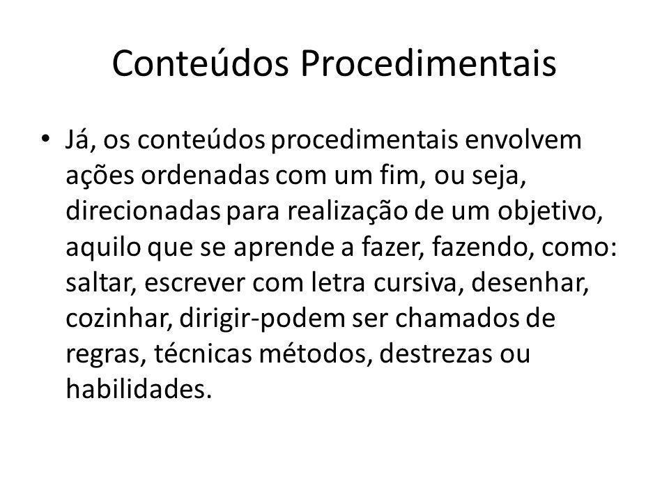 Conteúdos Procedimentais