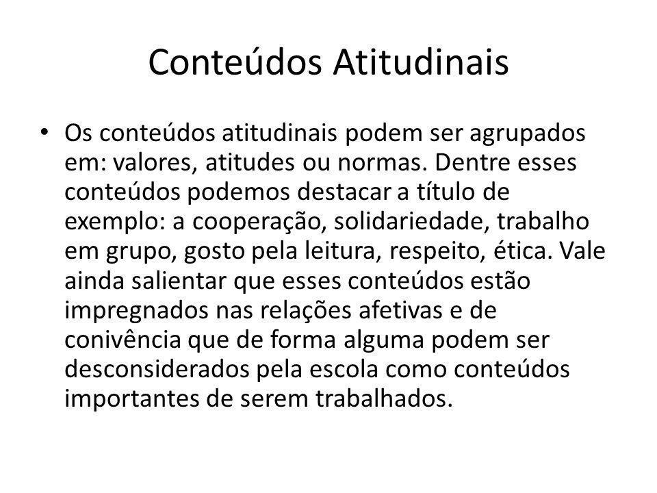 Conteúdos Atitudinais