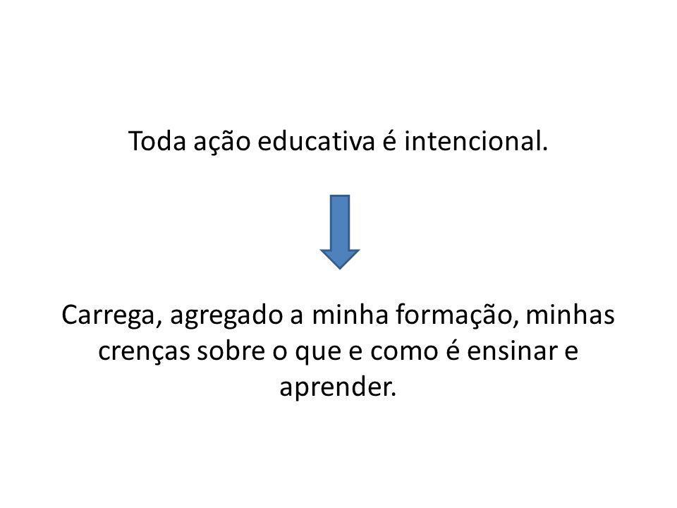 Toda ação educativa é intencional