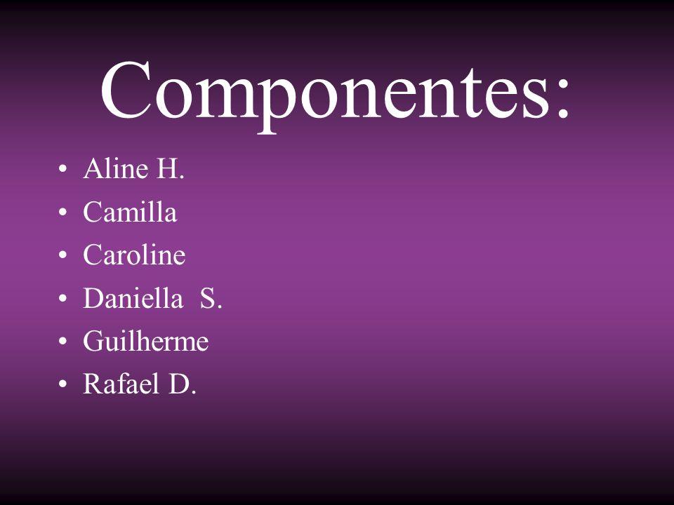 Componentes: Aline H. Camilla Caroline Daniella S. Guilherme Rafael D.