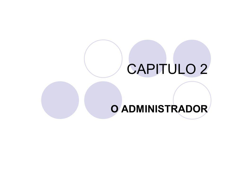 CAPITULO 2 O ADMINISTRADOR