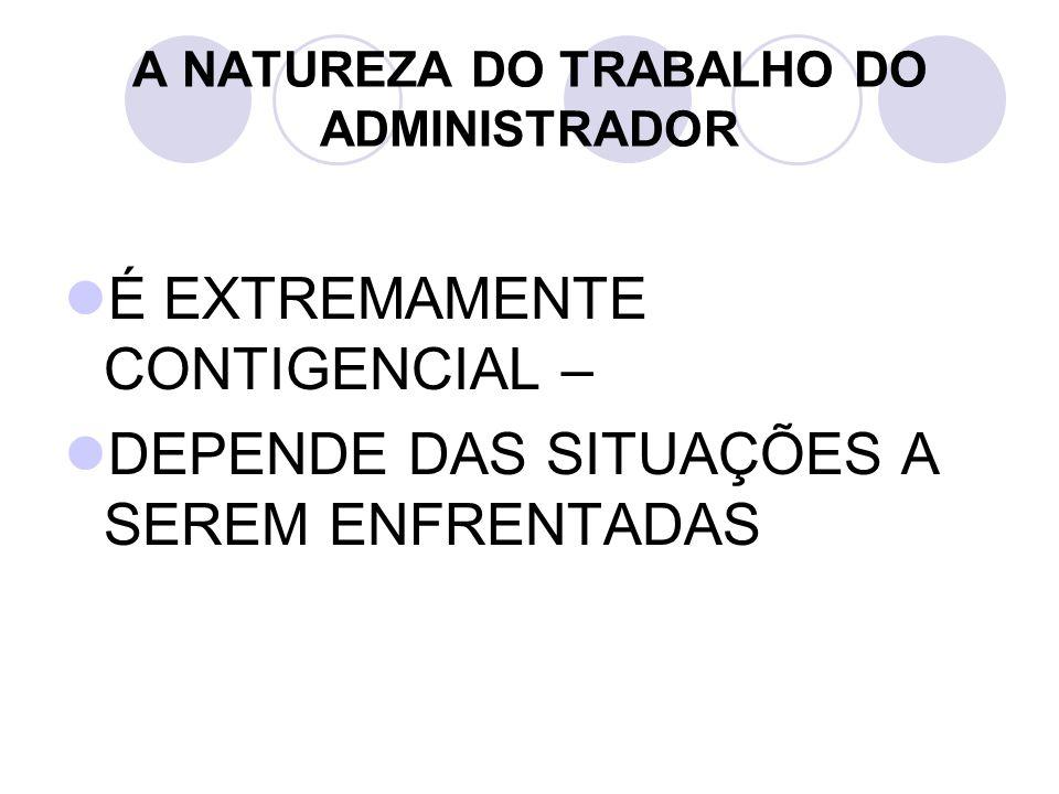 A NATUREZA DO TRABALHO DO ADMINISTRADOR