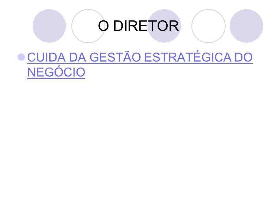 O DIRETOR CUIDA DA GESTÃO ESTRATÉGICA DO NEGÓCIO
