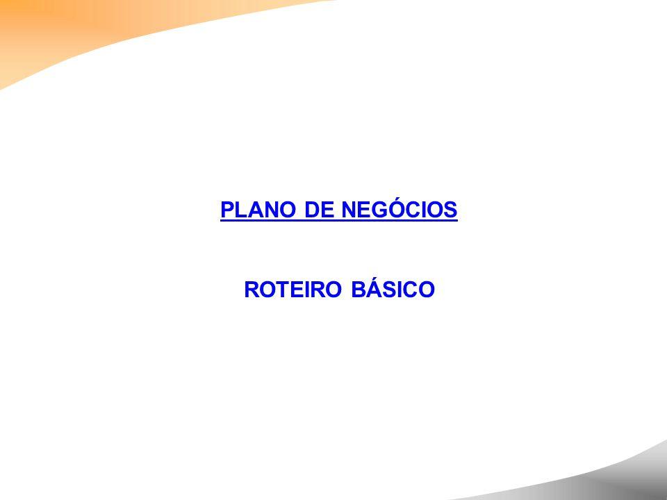 PLANO DE NEGÓCIOS ROTEIRO BÁSICO