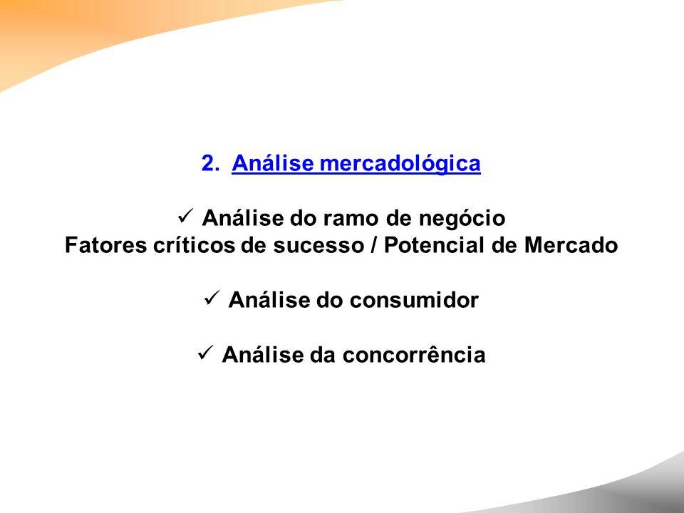 2. Análise mercadológica Análise do ramo de negócio