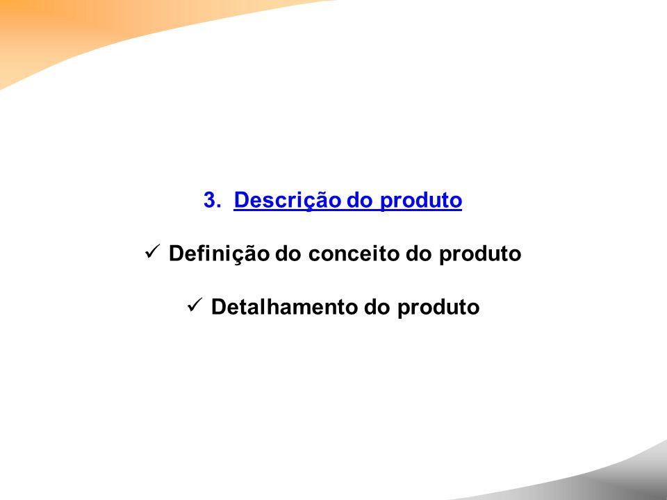 Definição do conceito do produto Detalhamento do produto