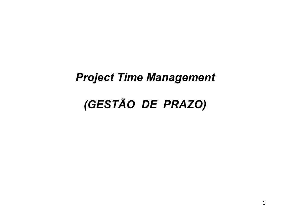 Project Time Management (GESTÃO DE PRAZO)