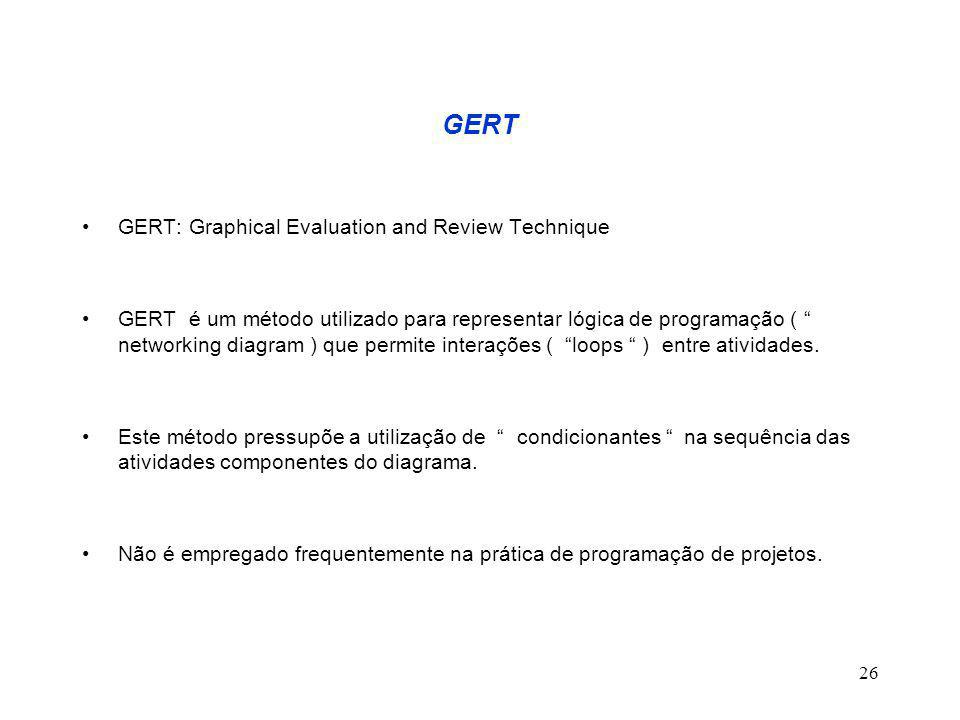 GERT GERT: Graphical Evaluation and Review Technique