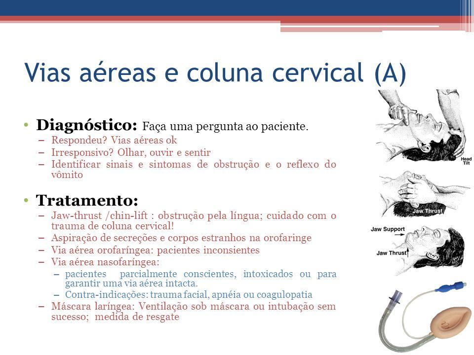 Vias aéreas e coluna cervical (A)