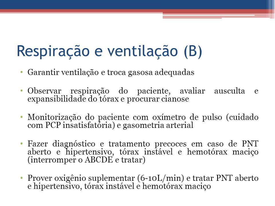 Respiração e ventilação (B)