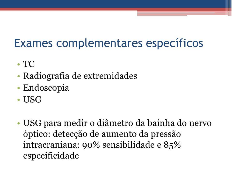 Exames complementares específicos
