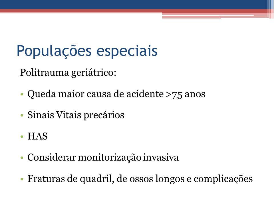 Populações especiais Politrauma geriátrico: