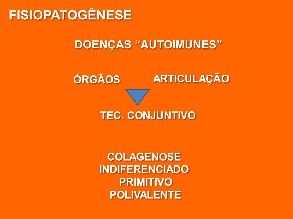 FISIOPATOGÊNESE DOENÇAS AUTOIMUNES ÓRGÃOS ARTICULAÇÃO