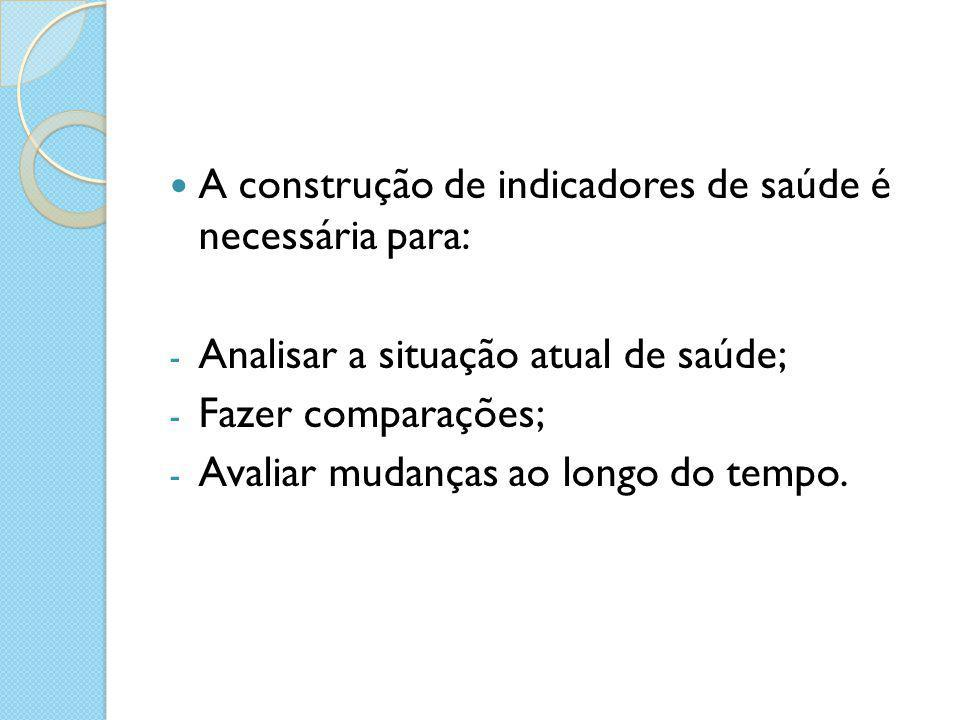 A construção de indicadores de saúde é necessária para: