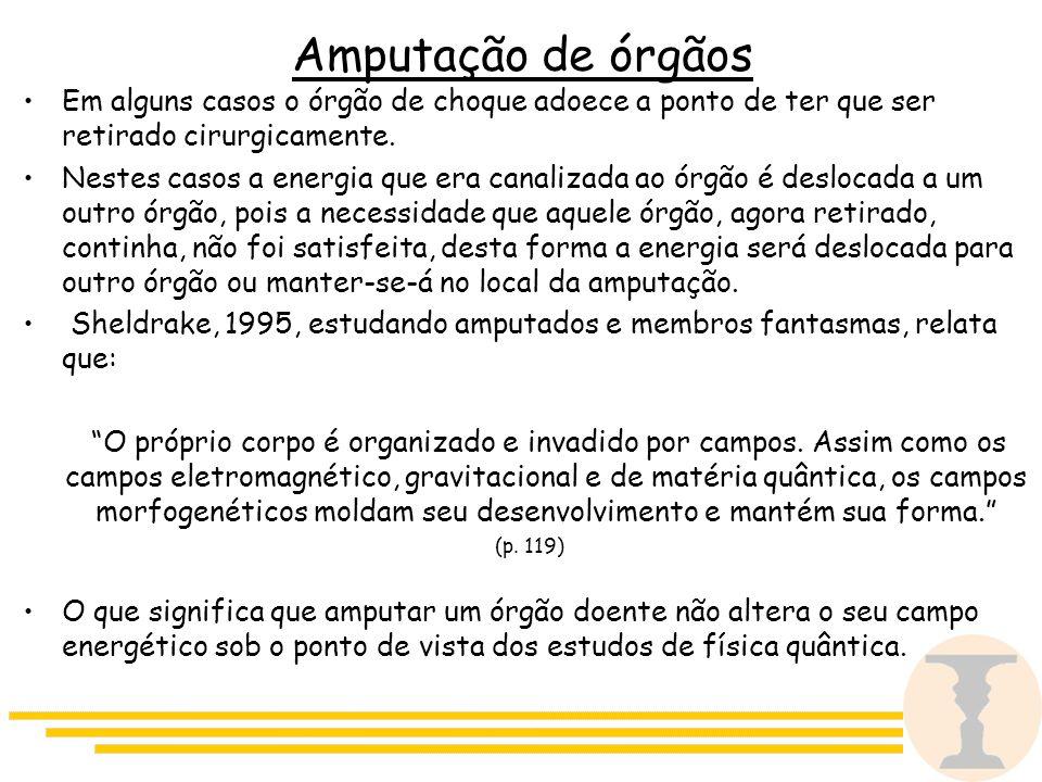 Amputação de órgãos Em alguns casos o órgão de choque adoece a ponto de ter que ser retirado cirurgicamente.