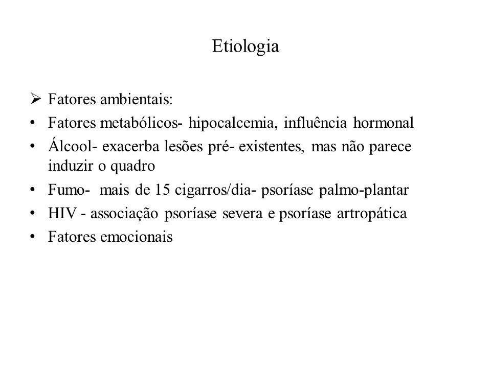 Etiologia Fatores ambientais: