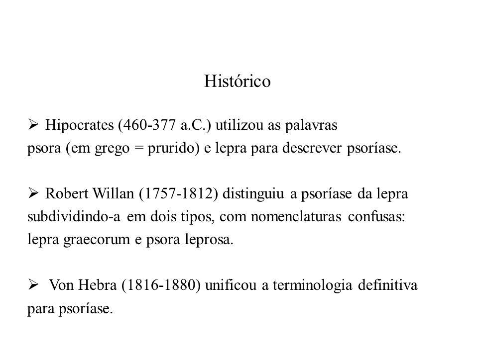 Histórico Hipocrates (460-377 a.C.) utilizou as palavras