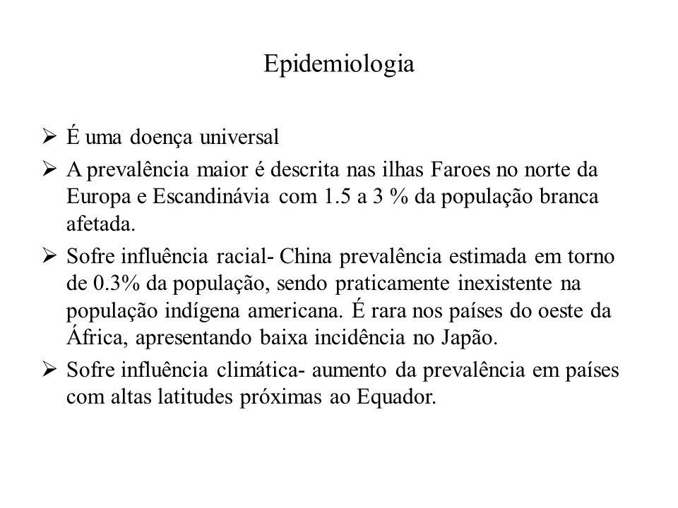 Epidemiologia É uma doença universal