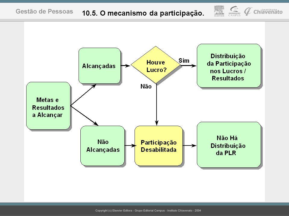 10.5. O mecanismo da participação.