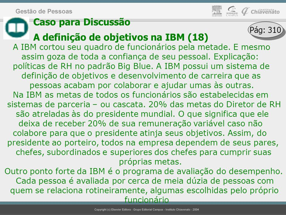 A definição de objetivos na IBM (18)