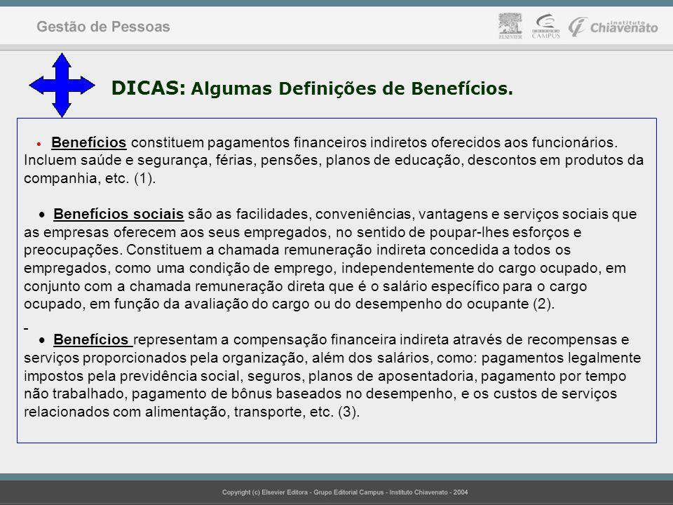 DICAS: Algumas Definições de Benefícios.