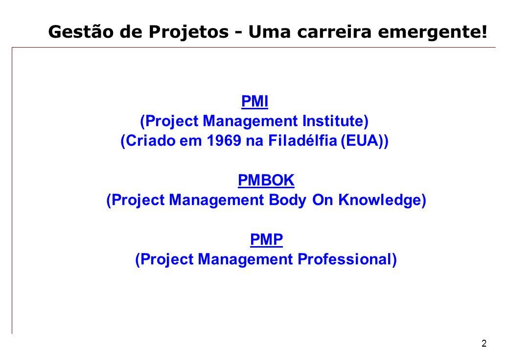 Gestão de Projetos - Uma carreira emergente!