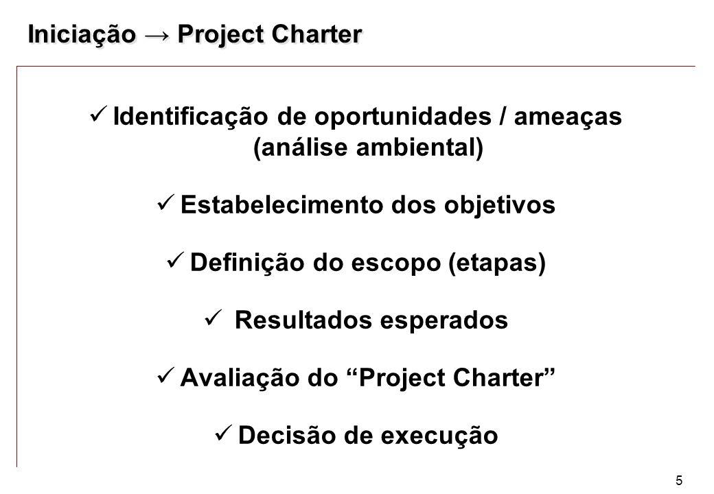 Iniciação → Project Charter