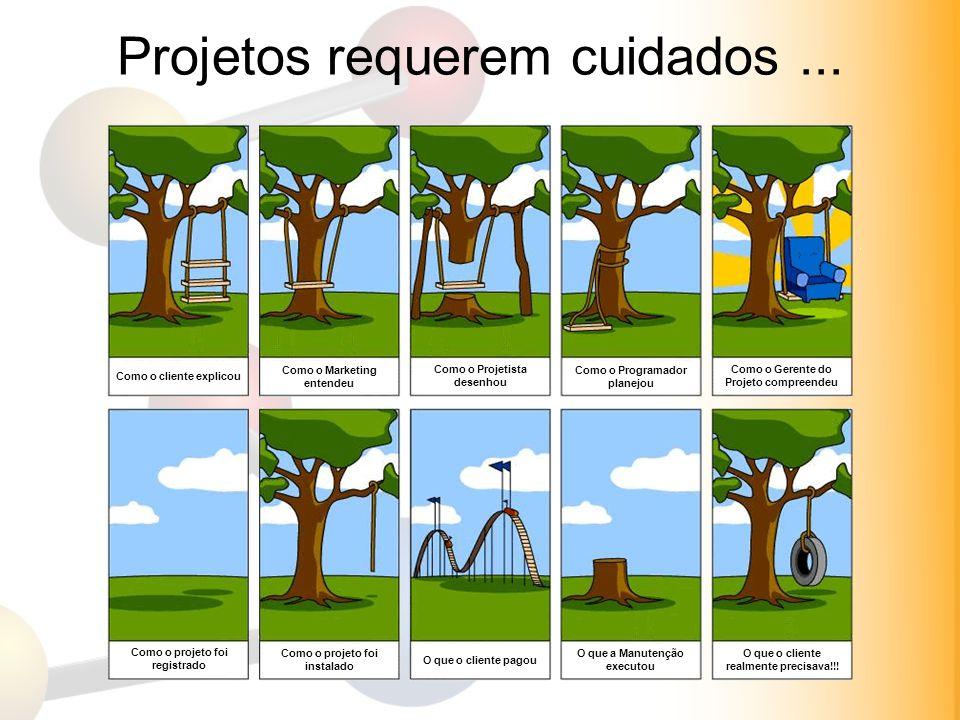 Projetos requerem cuidados ...