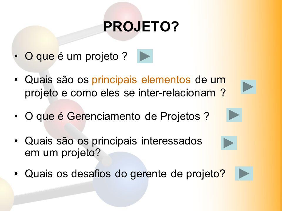 PROJETO O que é um projeto