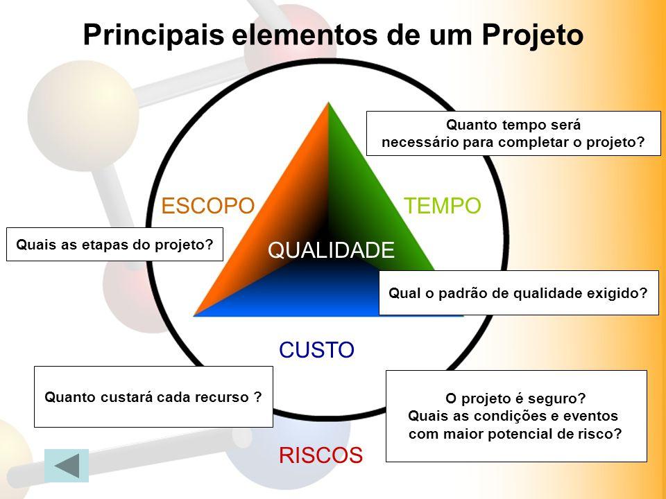 Principais elementos de um Projeto