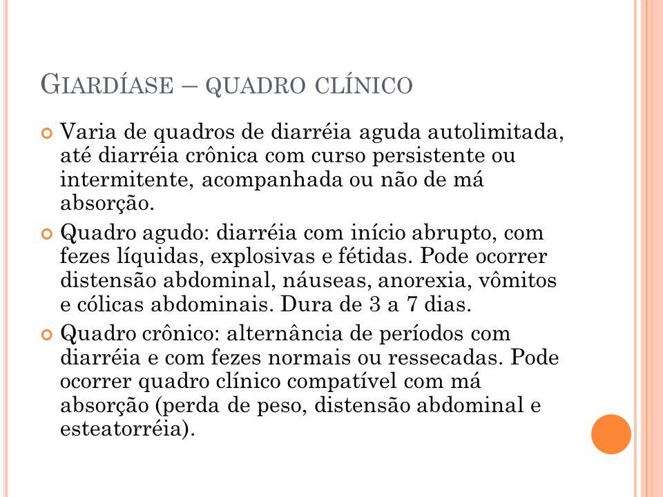 Giardíase – quadro clínico
