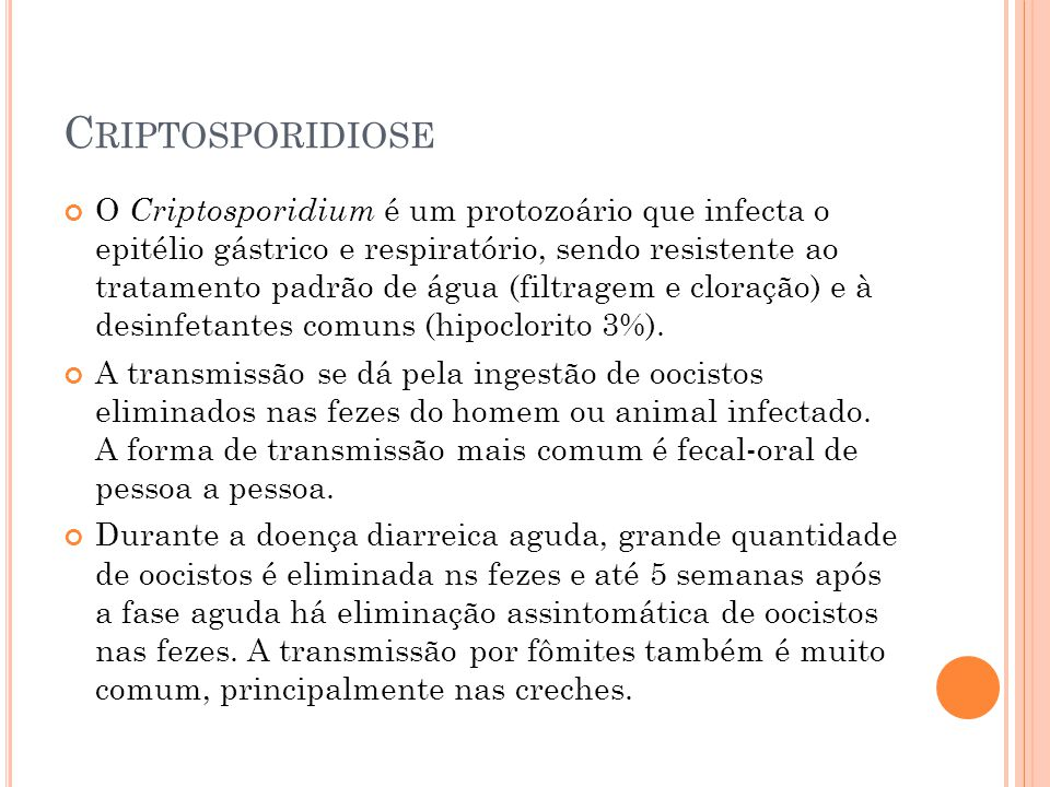 Criptosporidiose