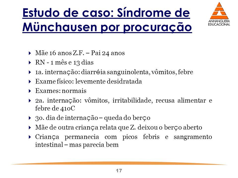 Estudo de caso: Síndrome de Münchausen por procuração