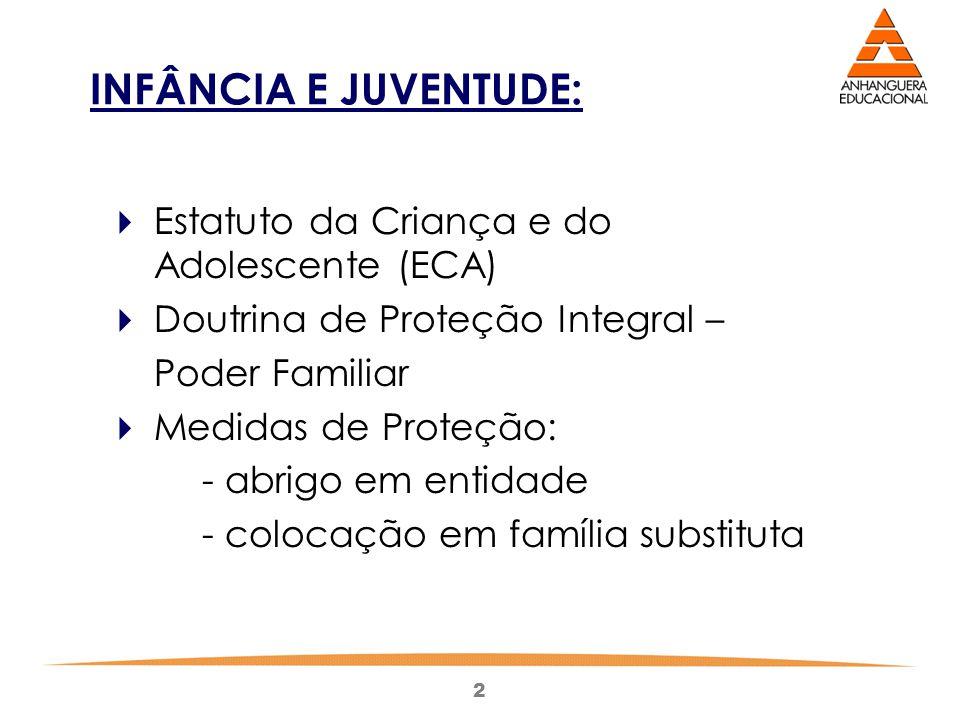 INFÂNCIA E JUVENTUDE: Estatuto da Criança e do Adolescente (ECA)