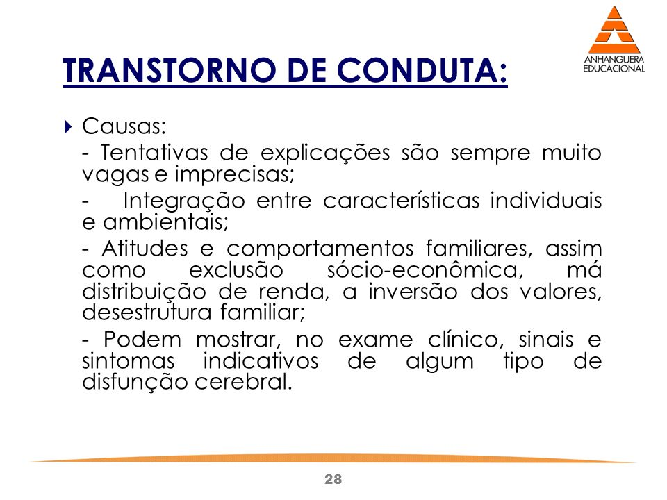 TRANSTORNO DE CONDUTA: