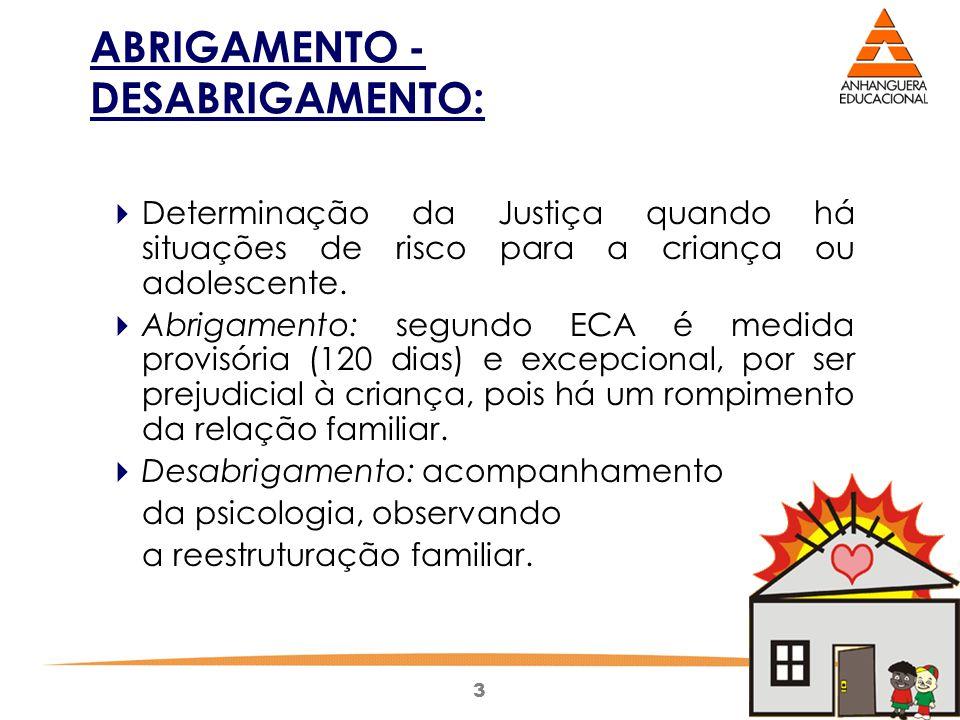 ABRIGAMENTO - DESABRIGAMENTO: