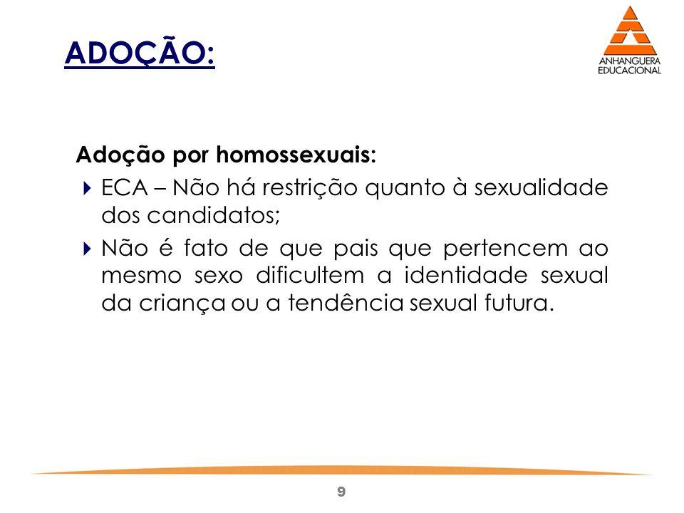 ADOÇÃO: Adoção por homossexuais: