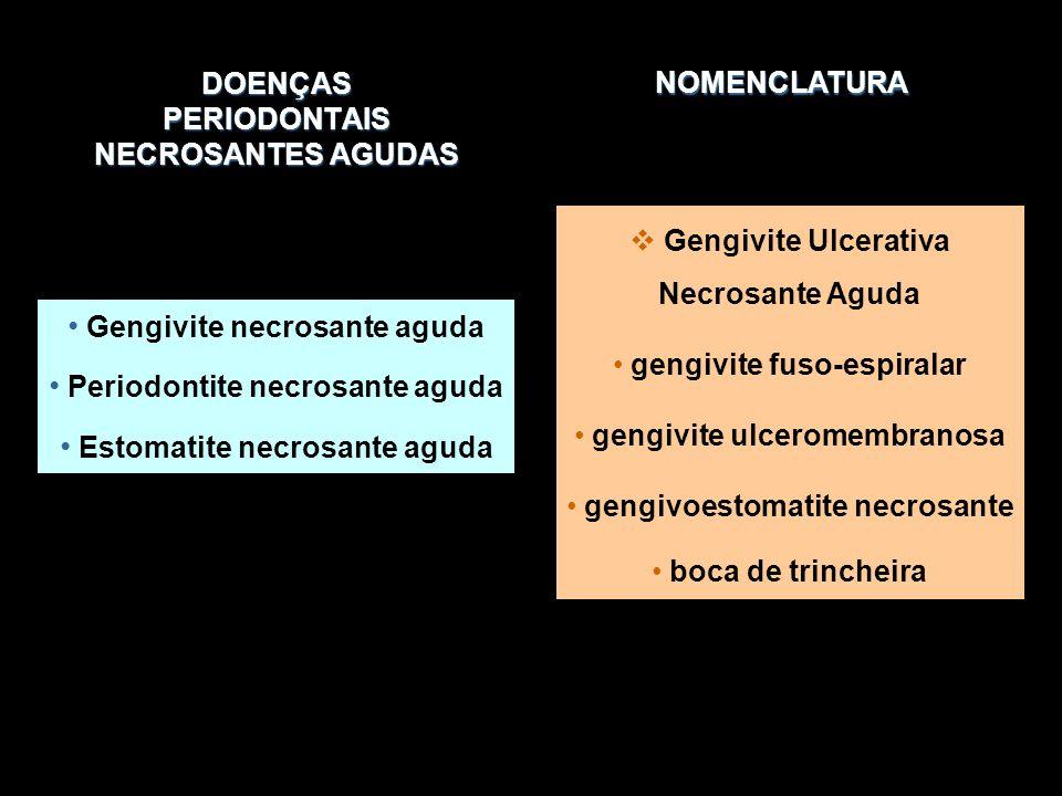 DOENÇAS PERIODONTAIS NECROSANTES AGUDAS