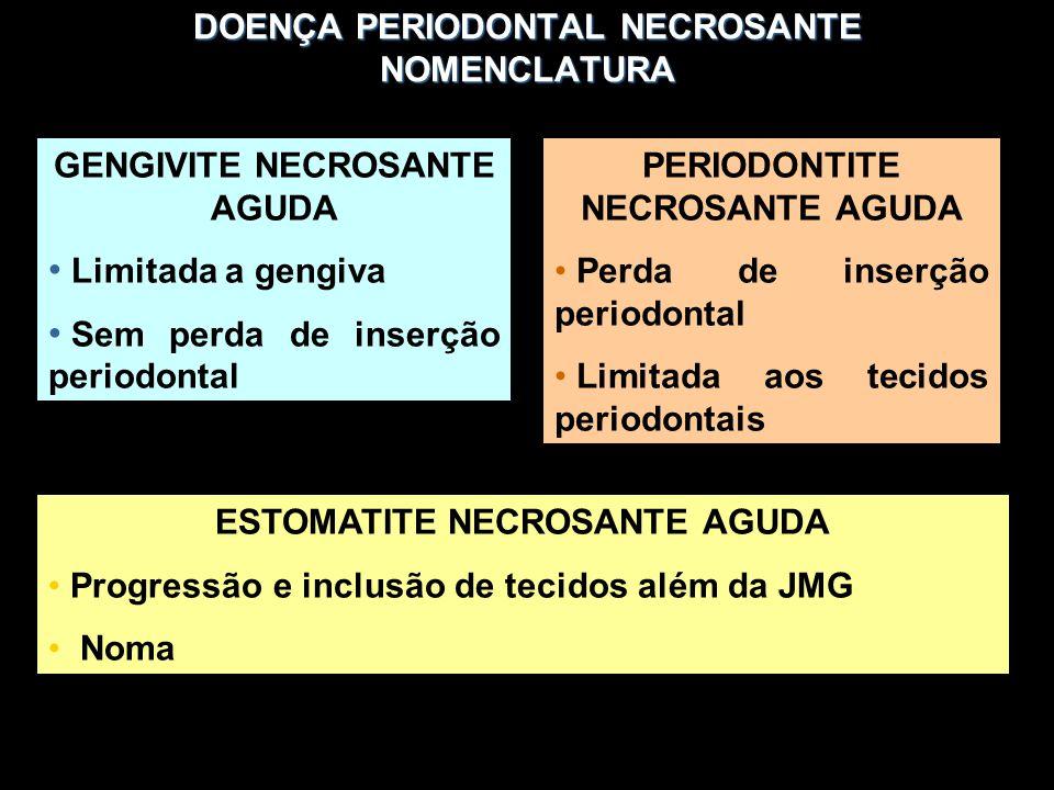 DOENÇA PERIODONTAL NECROSANTE NOMENCLATURA