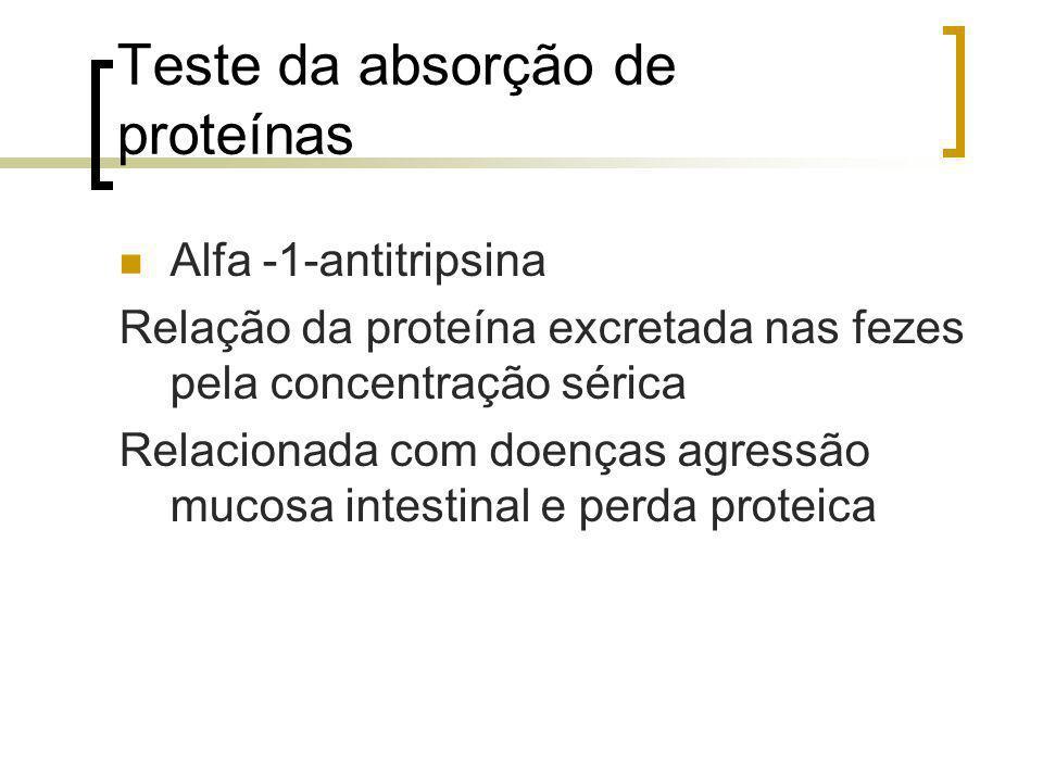 Teste da absorção de proteínas