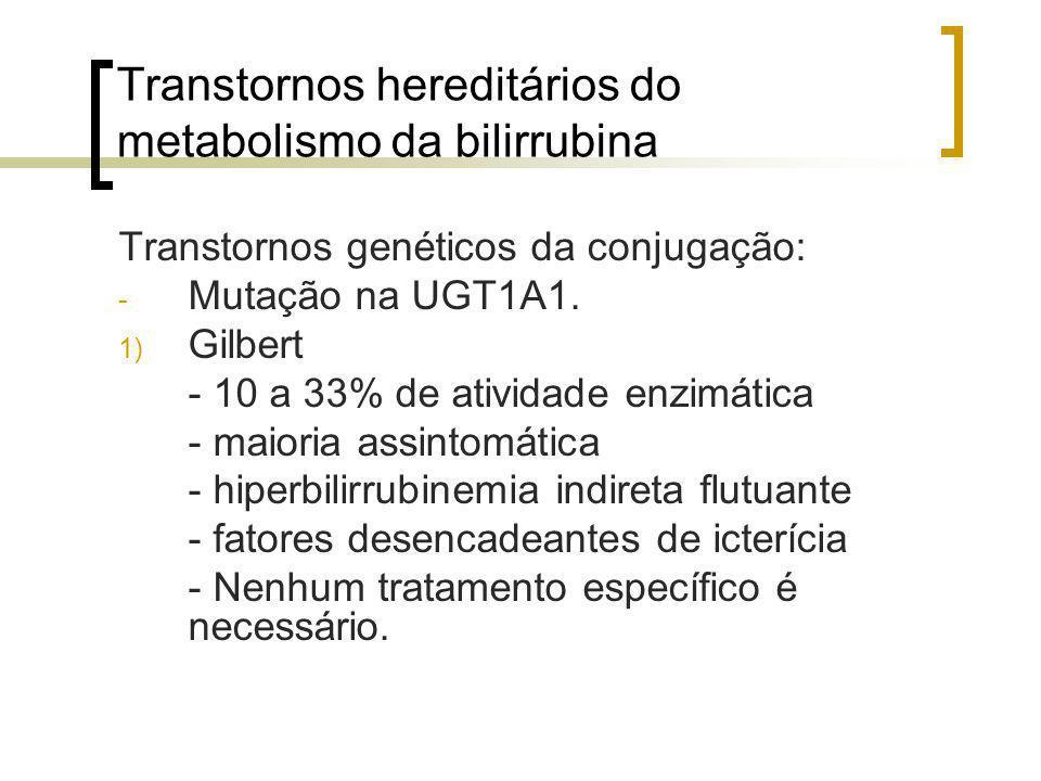 Transtornos hereditários do metabolismo da bilirrubina