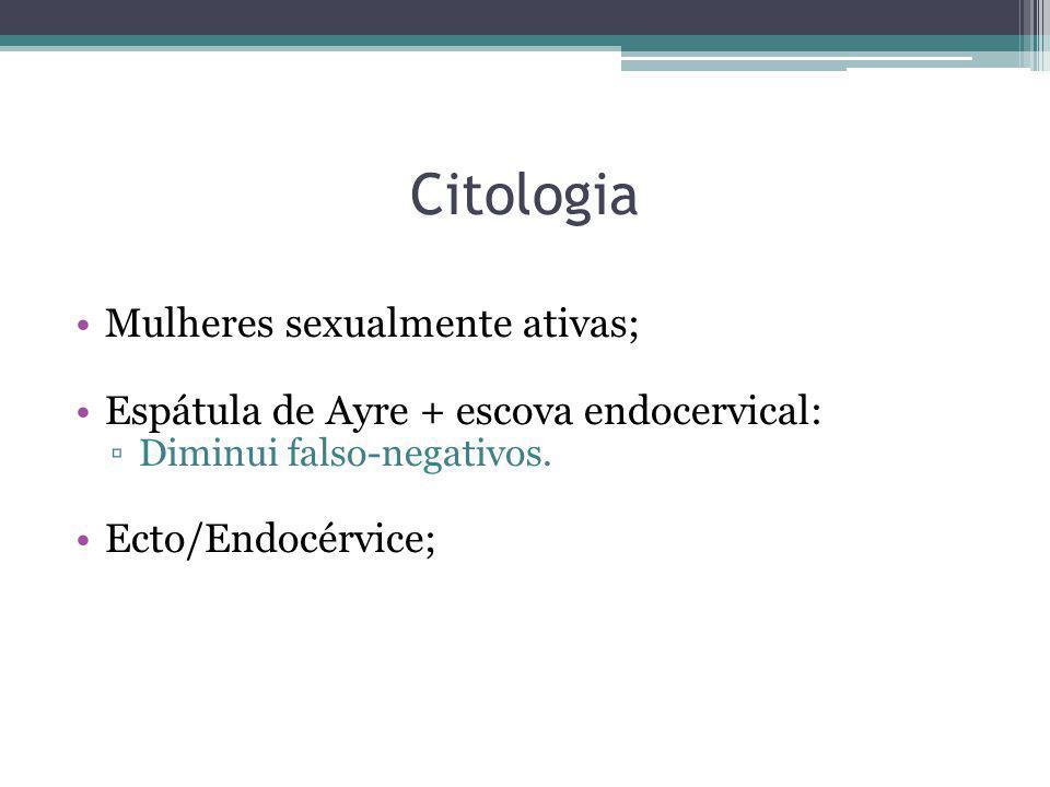 Citologia Mulheres sexualmente ativas;
