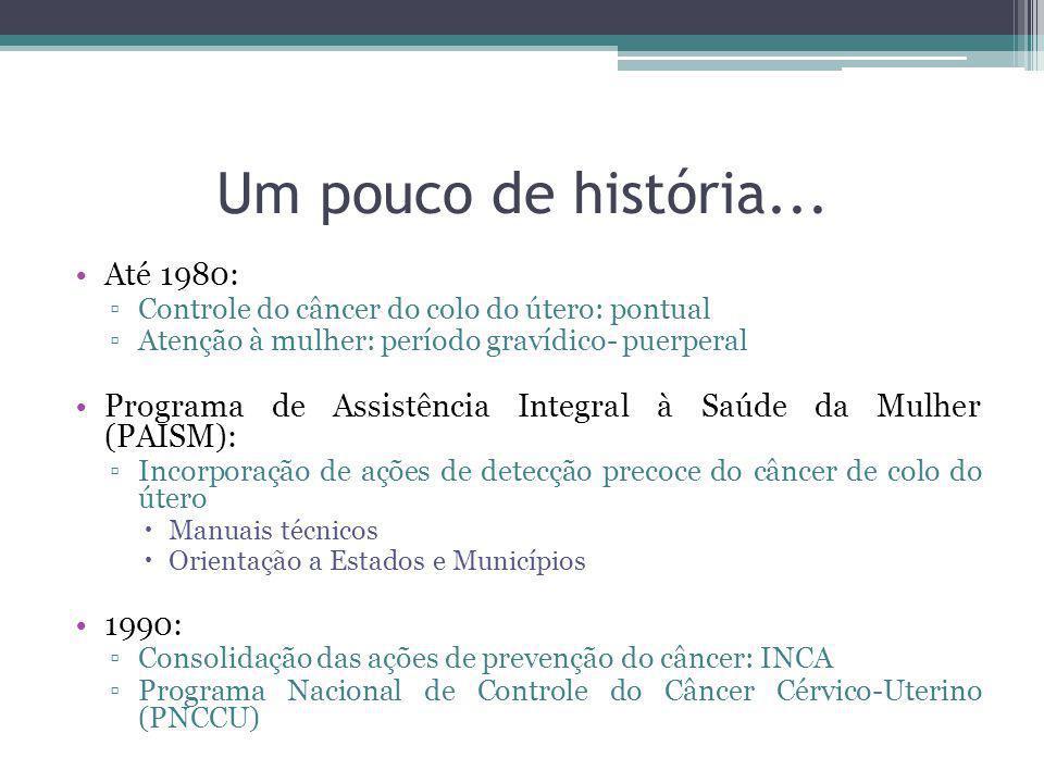 Um pouco de história... Até 1980:
