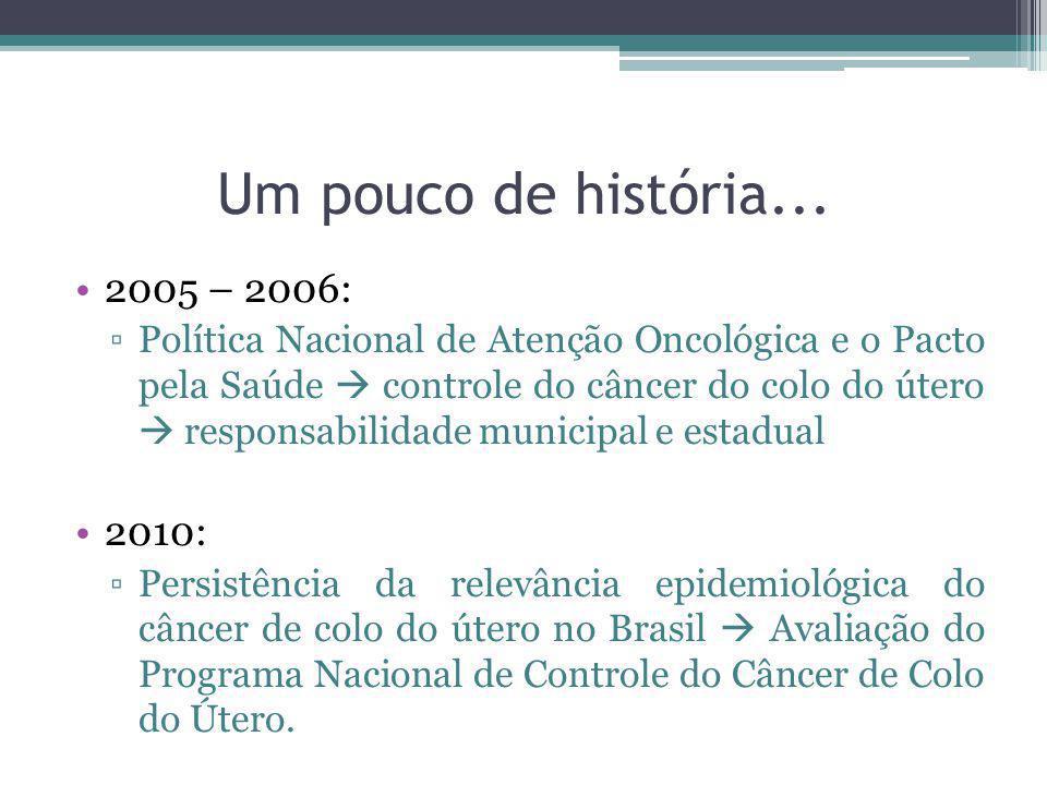 Um pouco de história... 2005 – 2006: 2010: