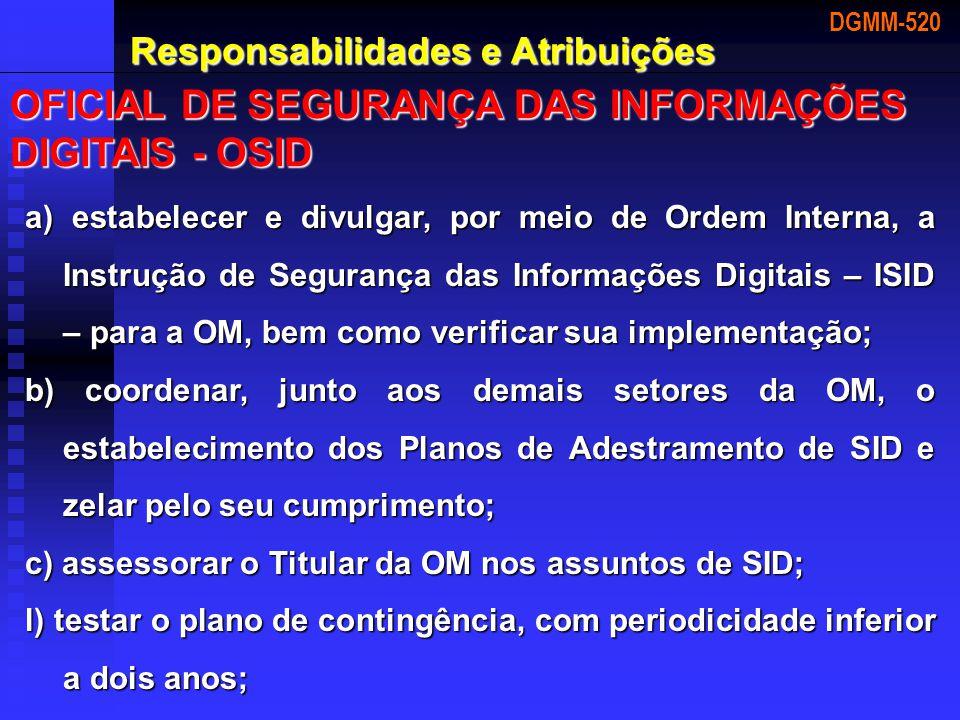 OFICIAL DE SEGURANÇA DAS INFORMAÇÕES DIGITAIS - OSID