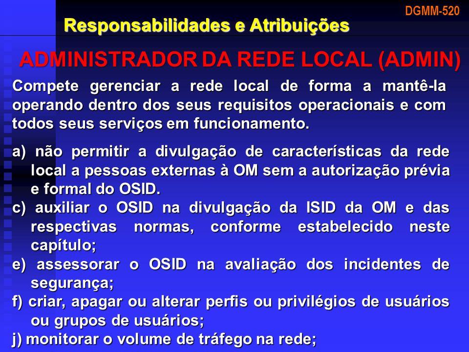ADMINISTRADOR DA REDE LOCAL (ADMIN)