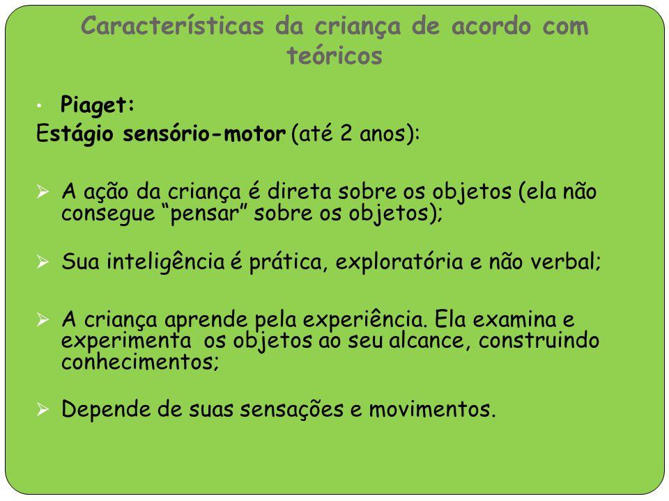 Características da criança de acordo com teóricos