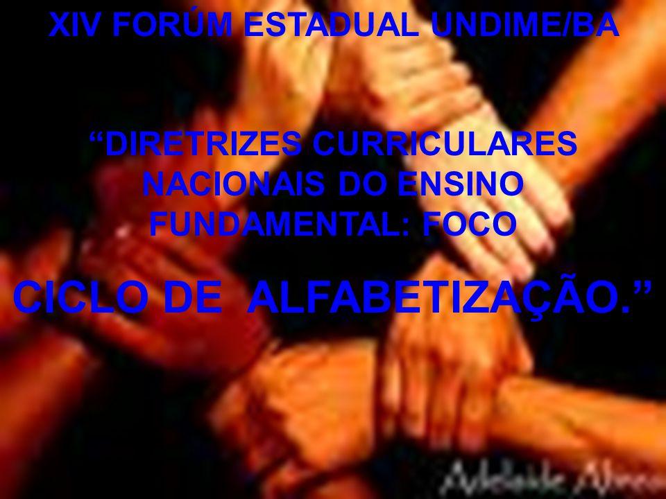 CICLO DE ALFABETIZAÇÃO.