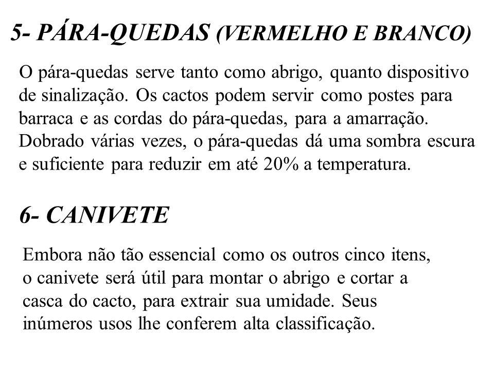 5- PÁRA-QUEDAS (VERMELHO E BRANCO)
