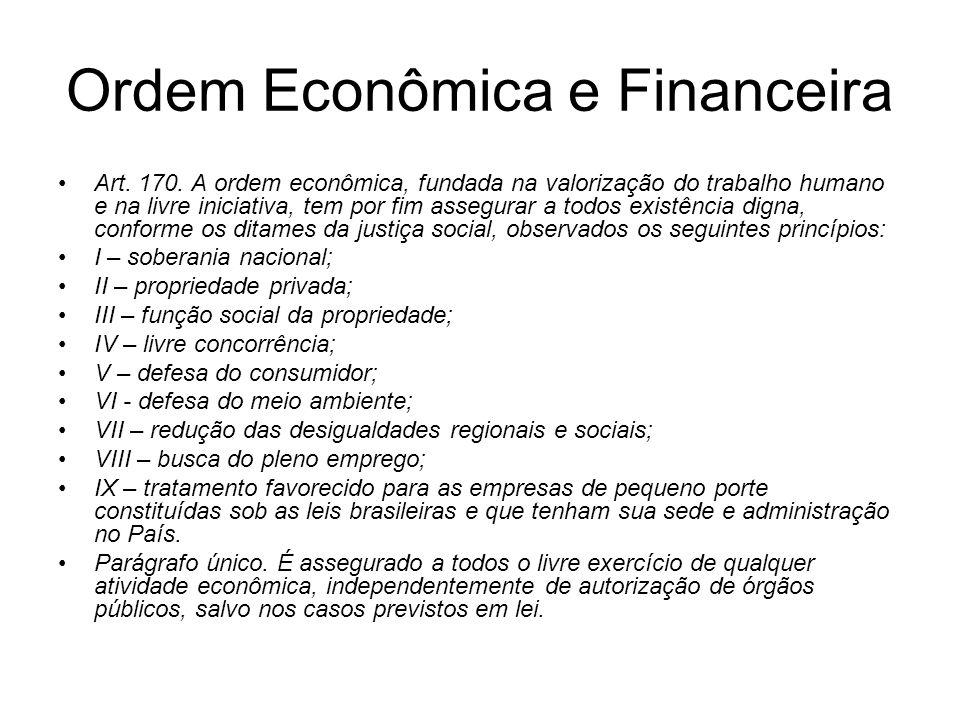 Ordem Econômica e Financeira
